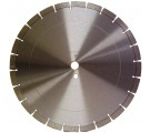 "14"" Premium Segmented, Sintered 14"" x .120 x 1""-20mm, 14mm rim"