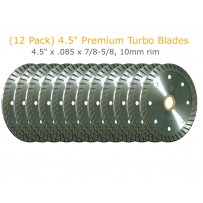 "12 Pack of 4.5"" Premium Turbo Blades"