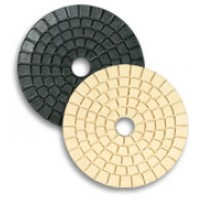 "4"" Granite & Marble Polishing Pad for Buffing, White"
