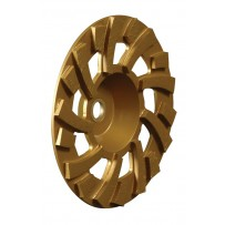 "7"" Super Turbo Gold Cup Wheel with Nut, 18 Segments, 5/8-11"