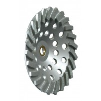 "7"" Premium Turbo Cup Wheel With Nut, 24 Segments, 5/8-11"