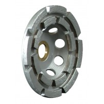 "4"" Standard Double Row Cup Wheel With Nut, 5/8-11"